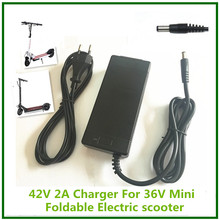 E Scooter charger E-bike charger 42V2A li-ion battery charger for 36V Electric Scooter  for 2 wheels folding  hoverboard