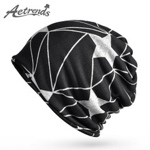 [AETRENDS] 2017 Multifunction Beanies for Men Women Baggy Skullies Cap Winter Warm Slouchy Hat Knitted Hip Hop Hats Z-5086