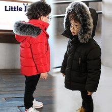 Buy Little J Kids Thick Cotton Jacket Boys Girls Winter Padded Coat Warm Fur Hooded Parka Children Outerwear Child Clothing Chaqueta for $21.17 in AliExpress store