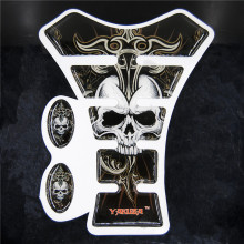 Ordinary Mail Yakuza Skull Motorcycle Sticker Gas Tank Pad Protector Decal For Yama Hon Kawasa Suzu Harley Crystal Adhesive