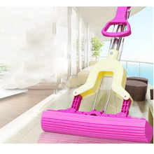 140203/Humanized handle design/Squeeze household glue cotton mops/Absorbent sponge mop/Retractable folding(China)