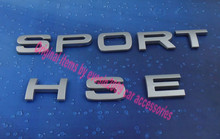 Auto car silver SPORT HSE for Range Rover trunk Rear Emblem Badge Sticker