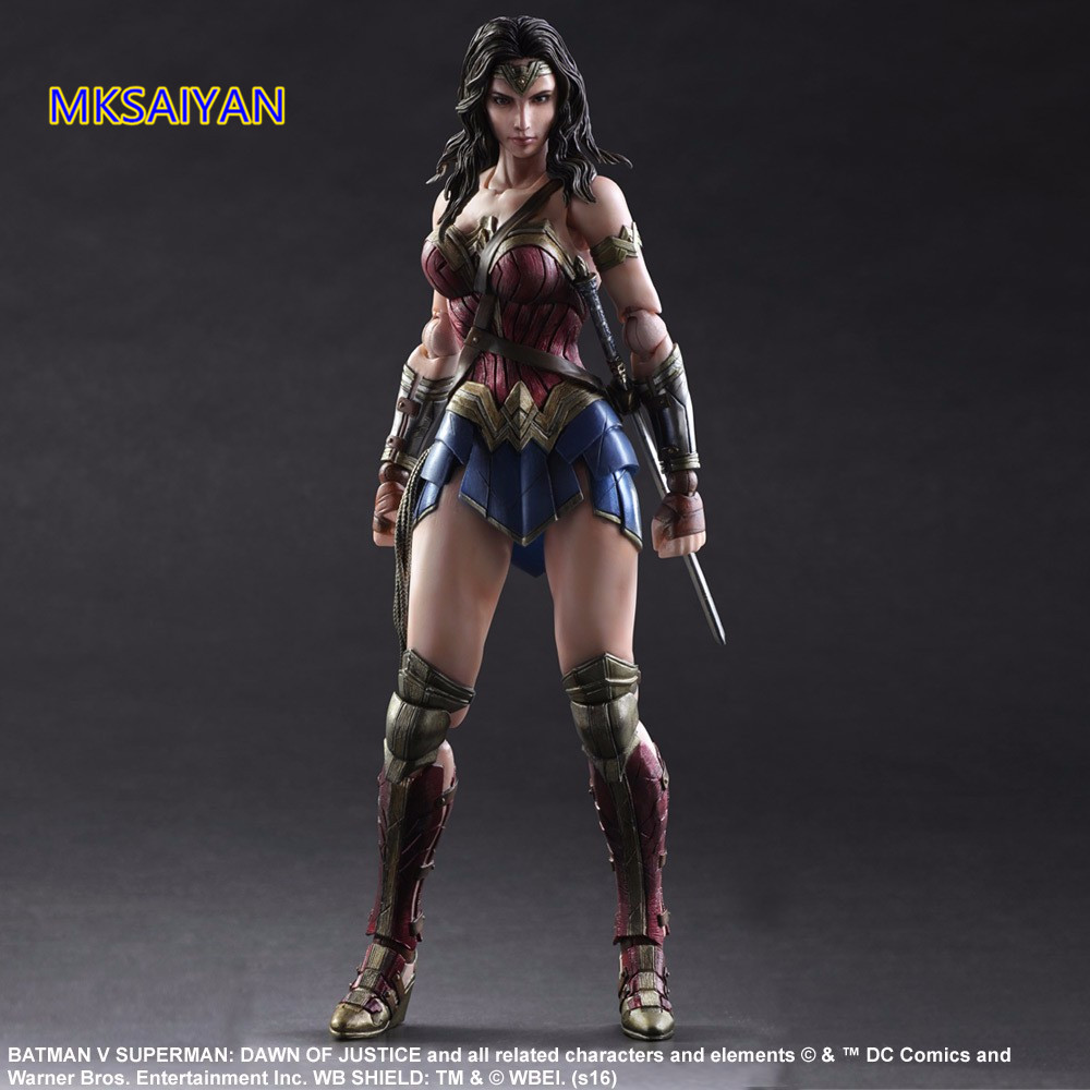 Play Arts Kai Wonder Woman Action Figure Dawn of Justice PVC Toys Anime Figures Batman VS Superman Model Doll Gift XM