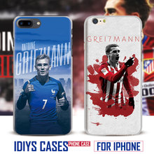 For Apple iPhone 7PLUS 7 6SPLUS 6S 6PLUS 6 5 5S SE 4 4S French Football Player Antoine Griezmann New Phone Case Cover Shell Bag