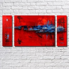 Pure Hand-painted Oil Paintings Home Decor  spell Abstract Red Painting Canvas Art  For Living Room Framework