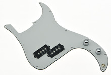 KAISH White 3 Ply Prewired Loaded P Bass Pickguard for Precision Bass Guitar
