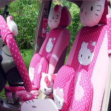 Universal Cartoon Hello Kitty Car Seat Covers Hello Kitty Interior Accessories Automobiles Car Styling