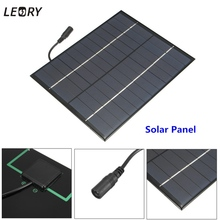 LEORY 5.2W 12V Mini Solar Panel Polycrystalline Silicon Epoxy Solar DIY Module System Solar Cells Battery Charger + DC output