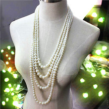 Imitation pearl beautiful romantic fashion accessories wholesale girl beautiful birthday party 4 layer necklace gift free shippi
