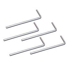 NFLC 5Pcs 4mm Metal Hex Key Allen Wrench - Silver