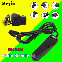 Shutter Release Meyin RS-802 Release Time Remote Contro Cable for Canon Nikon Sony Pantex Samsung Panasonic Leica DSLR Cameras(China)