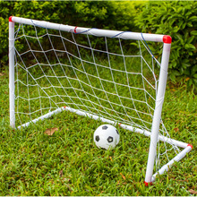 New Mini Football Soccer Goal Post Net Set With Pump Kids Sport Toy Great Funny Indoor Outdoor Fashion Toys Easy To Install
