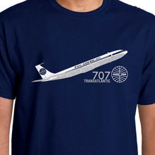 New Fashion Mens Short Sleeve Brand high-quality Aeroclassic-Pan Am Boeing 707 inspired T-Shirt(China)