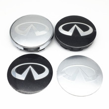 4pcs 56mm 60mm Car Wheel Hub Center Cap Badge Logo wheel Dust-proof covers stickers 3d Decals for q30 q50 g35 g37 fx35 fx37 qx70(China)