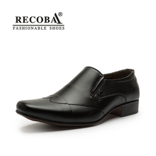 Mens casual genuine leather black penny loafers men height increase dress PU soles boat shoes