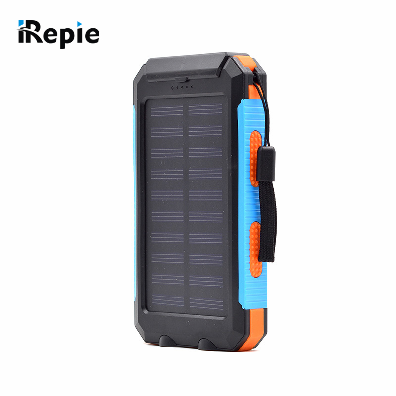 New Portable 10000mAh Solar font b Power b font font b Bank b font Compass Waterproof