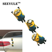 1pc SEEYULE Minions Car Sticker Shake hands Cute Funny Despicable Me Cartoon Glue Car Decal Cover Waterproof Scratch sticker
