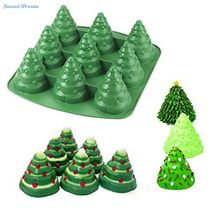 Sweettreats 3D Christmas Tree Fondant Cake Bread Decorating Sugarcraft Silicone Pop Soap Mold Mould DIY Tools