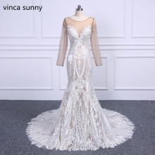 Buy vestidos de novia Bridal Dresses Long sleeve vintage Mermaid Wedding Dress Lace African Wedding Gowns 2018 Bridal Marriage for $179.18 in AliExpress store