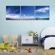 Modular Modern Blue Sky and Mountain Canvas Print Artwork Abstract Grand Sight Pictures to Photo Painting on Canvas Wall Art
