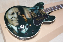 custom guitar factory 5 speed switch B.B.King guitar B B King lucille king of blues black electric guitar Dual Output-14-11-11(China)