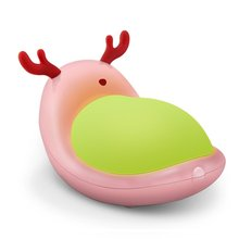 Cute Elf Reindeer Touch Control LED Night Light, USB 7 Color Mood Light Bedside Lamp with Dimmable Warm White light for Kids an(China)