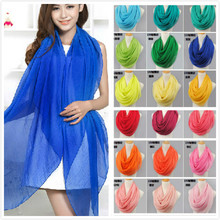 New arrival 2016 solid color silk scarf spring and autumn women's solid color chiffon scarf free shipping cachecol