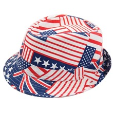 Fashion Flag Pattern Baby Hat Unisex Kids Hats Cap Fashion Children Party Caps US/UK/Australia Style For 2-7 Year(China)