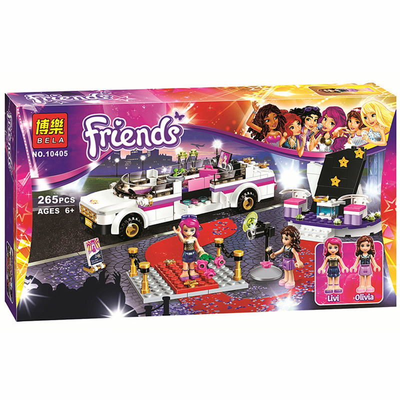 278Pcs Friends Pop Star Limo Building Kit Sets Legoelieds Friends For Girl Blocks Girl Friends Toys SY382 Lepin Toys <br><br>Aliexpress