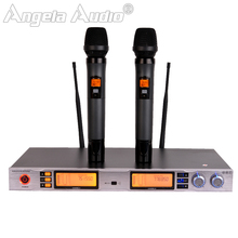Professional UHF Wireless Microphone Karaoke System 2 Channels Cordless Receiver Dual Handheld Mic For KTV PC Home Party Outdoor