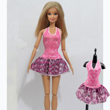 Original clothes For Barbie Pink Bow Dress Party Gown