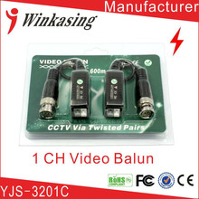 Camera Passive Video Balun Connector CCTV BNC UTP CAT5 Video Balun Twistered Pair Transceiver Cable 1Pair(China)