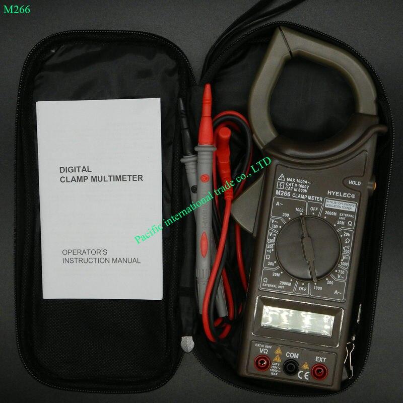 Digital Multimeter HYELEC M266 electric tester Insulation resistance clamp ammeter Voltage /Current / Resistance<br><br>Aliexpress