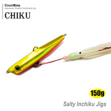 150g 5.3oz Japanese Style Inchiku Jigs with Octopus Assist Hook, Squid Jigging, Saltwater Bottom Ship Snapper Fishing Lure
