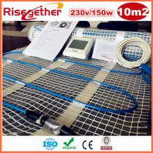 Sale 10m2 230V Self-adhesive Twin Core Heating Cable Mats 150w/m2 Easy Heat Floor Warm Fast Free Shipping(China)