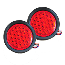 Truck Trailer Lights DC 24V LED Car  Stop/Turn/Tail Self-Contained Round Waterproof LED Truck Lights 2pcs/Lot