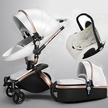 Aulon. Reviews of the stroller transformer 2 in 1 Aulon, stroller 3 in 1, aulon eco-leather, baby seat, with free delivery.(China)
