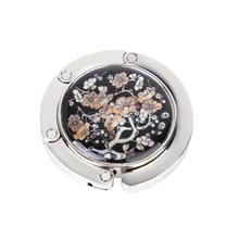 Plum blossom Pattern Floral Round Folding Handbag Purse Hanger Hook Holder Free Shipping
