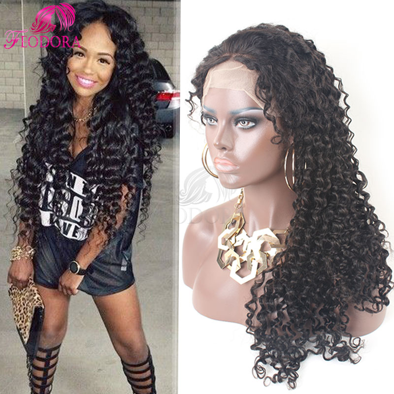 Human Hair Glueless Full Lace Wigs Curly Lace Front Wig Remy Human 7A Brazilian Virgin Hair Wig For Black Women Natural Lace Wig<br><br>Aliexpress