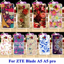 AKABEILA Covers For ZTE Blade AF3 A3/ZTE Blade A5 A5 pro Case AF 3 C341 T221 Bag Rose Peony Flower Cell Phone Shell Hood(China)