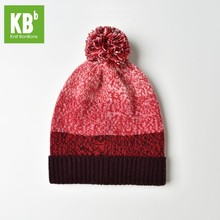 2017 KBB Spring Hot Style Comfy Red Women Men Designer Lambswool Wool Yarn Knit Pom Pom Winter Hat Beanie Cap(China)