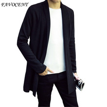 FAVOCENT 2017 Hot Sell Middle- Long length Mens Solid Sweater Cardigan Trench Male Casual Autumn New Hot Design Free shipping(China)