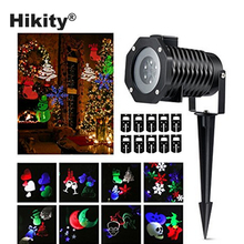 Hikity LED Projector Lights 10 Patterns Lens Moving Landscape Spotlight Waterproof Outdoor Decorations Night Lamp for Christmas(China)