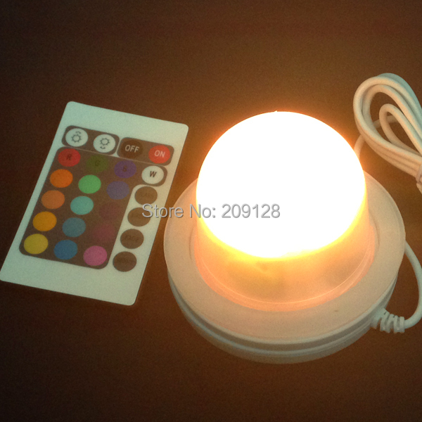 85mm Free Shipping Remote control 16 colors Led light battery system<br>