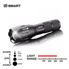 Adjustable 5 Modes 3800 Lumens CREE XML T6 LED Flashlight Waterproof  Torch Lights Focus Zoomable Lantern