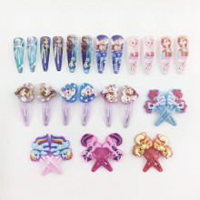 2pcs/lot Cartoon My Little Ponys Hair Clip for Women Children Elsa Hair Accessories Anna Clip Hair Pins Girls Hairpins Baby Kids