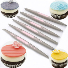 6Pcs/set Fondant Cake Sugar Soft Tip Shapers Modelling tool Cakes Cupcake Decorating Flower Modelling Craft Clays Tools(China)