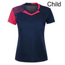 Free Printing Children Table tennis shirt boy , girl sports Tennis tracksuit , boy Badminton t shirt , Tennis wear shirt 5062B(China)