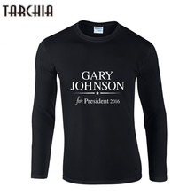 TARCHIA New Clothing Men's Casual Hip hop Long T Shirt Men Black Tops T-Shirts Male O-neck Hiphop Shirt GARY JOHNSON Print Tops