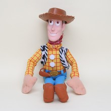 Hot 1pcs 40cm / 50cm Toy Story WOODY Action Woody Toy figure PP Cotton Plush Model Toys Stuffed Doll For Children Christmas Gift(China)